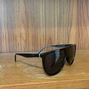 Flat top black sunglasses